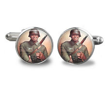 Military cufflinks-vintage, army -dad,fathers day, accessories, mens cufflinks