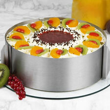 Stainless Steel Circle Mousse Ring 6-12 inches Adjustable Cake Pan Mold Baking