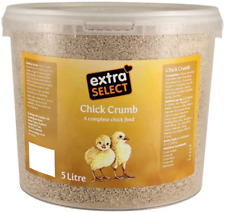 Chick Crumbs Chick Feed Tub Duckling Gosling Hatching Baby Chickens Diet 5 Litre