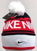 NIKE BEANIE-POM Black/White-University Red -546113 014-