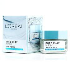 50g L'Oreal Paris Pure Clay Mask Anti-Pores Oil Control Skin Purify Detoxify