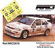 DECAL/CALCA 1/43; Ford Escort Cosworth; Dopico-Louro; Rally de Naron 1995