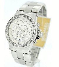 NWT Michael Kors Women's Watch Silver Steel Bracelet & Glitz BEDFORD MK5385 $250