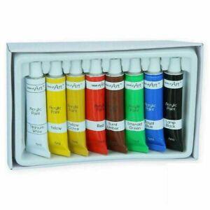 8 x Artists Acrylic Paints Painting Set Painters Colours Tubes Pictures Supplies
