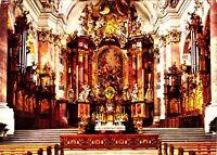 Ottobeuren , Innenansicht der Benediktiner Kirche , Ansichtskarte ,1981 gelaufen