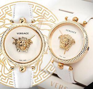 Versace Women's Watch VCO040017 Palazzo Empire Ip-Gold Swiss Made New