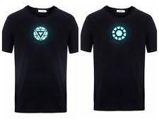 LED Shirt Iron Man The Avengers Tony Stark Light Up Arc Reactor T-shirt USA