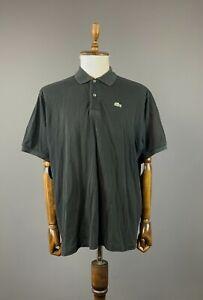 Men Lacoste Black Short Sleeve 5191L 100% Cotton Polo Shirt Size 9 / 4XL