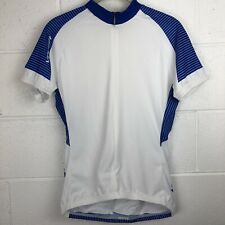 Voler Cycling Jersey Shirt Women's Medium Short Sleeve 3/4 Zip Blue White NEW