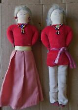Pair Of Hand-Made Folk Art Native American Indian Dolls Man & Wife? Lot #1