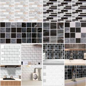 Self-Adhesive Kitchen Wall Tiles Bathroom Mosaic Brick Sticker Peel & Stick UK