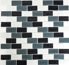 Mosaik Verbund Glasmosaik mix grau Fliesenspiegel Küche Art: 66-0204 | 10 Matten