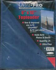 75 Ultra Pro 8x10  8 x 10 Photo Toploaders toploader New