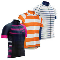 2021 Team Sports Race Mens Biking Jersey Short Sleeve Cycling Shirt Wear Striped