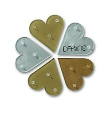 """NEW Dakine Hearts Mat Sparkle 4""""x4"""" Spiked Snowboard Stomp Pad Traction Msrp$10"""