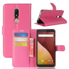 Cover Wallet Premium Pink For Wiko View Prime Case Cover Pouch Protection NEW