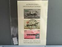 Haiti 1961 International Airport    imperf Cancelled  stamps  sheet   R26797