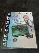 Vintage Sealed Vivitar Aps Film Camera Cv24 Transparent Green 27mm f5.6 Lcd