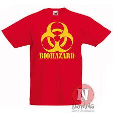 BIOHAZARD estampada infantil Camiseta 3-13 Años Diseño Fresco Ciencia Horror