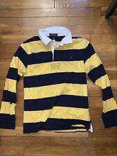 Boys Ralph Lauren Polo Yellow BluE Stripe Button Long Sleeve Large (14-16)
