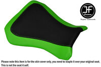 BLACK AND LIGHT GREEN VINYL CUSTOM FITS RIEJU RS3 125 FLAT FRONT SEAT COVER ONLY
