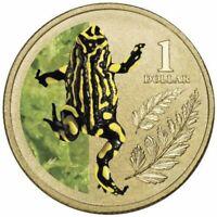 2012 UNC RAM $1 COIN & STAMP MINISHEET CORROBOREE FROG ON CARD