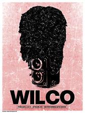 Wilco Gig Poster, Spokane 2012 (Original Silkscreen) 18 x 24' Print