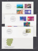 Switzerland Mi 1516/1535, 1994 issues, 9 complete sets on 9 official FDCs