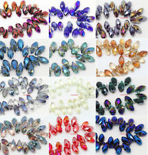 6X12MM Plating AB Color Crystal Beads Water Drops Glass Beads For Jewelry DIY