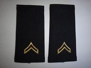 Pair Of US Army CORPORAL Rank Shoulder Badges Epaulets Unused