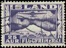 Iceland Scott #C17a Used  Perf 12 1/2 x 14