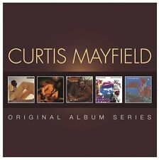 Curtis Mayfield ORIGINAL ALBUM SERIES Live ROOTS Back To The World NEW 5 CD
