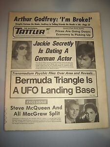 January 1975 NATIONAL TATTLER- BERMUDA TRIANGLE IS A UFO LANDING BASE