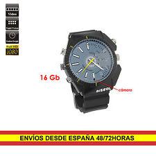 Reloj espia Full HD 16GB de pulsera LEDs infrarrojos Waterproof Diseño deportivo