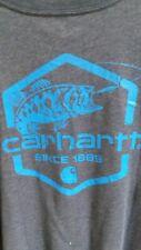 Carhartt Fishing Pocket T-Shirt boys L 14/16  Navy Heather Short Sleeve NEW