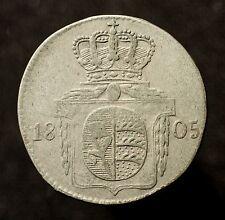 Kfsm. Württemberg, Friedrich II., 6 Kreuzer 1805, K./R. 20.2 Var., RR!