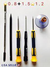 Screwdriver 5 Point Pentalobe 0.8 1.2 1.5mm Repair Kit set Pry Tools USA