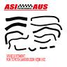 AUS  Silicone Heater Hoses Kits For Toyota Landcruiser HZj80 1HZ Black