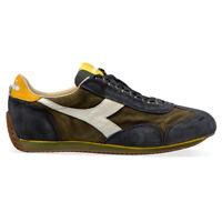 Diadora heritage scarpe da uomo Equipe s sw 18 Camoscio Blue Verde n9000 Game
