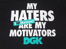 "DGK DIRTY GHETTO KIDS - ""MY HATERS ARE MY MOTIVATORS"" - XL - BLACK T-SHIRT B163"