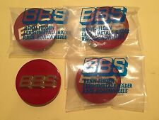 New BBS Red Gold Center Caps 70mm 56.24.120 Set of 4