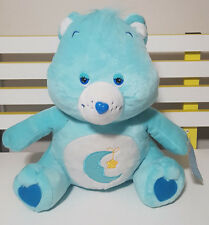 BEDTIME CARE BEAR TEDDY BEAR PLUSH TOY! SOFT TOY ABOUT 38CM SEATED WITH TAG!