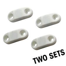 2 Sets - White RV Trailer Magnetic Door Baggage Door Catch Camper - #1 Strongest