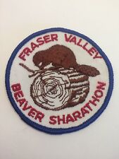 """Vtg Fraser Valley Beaver Sharathon Scouts Canada Sew On  Patch  3"""" Cubs Beavers"""
