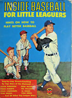 Inside Baseball For Little Leaguers Mickey McConnell 1955 Paperback Wonder Books