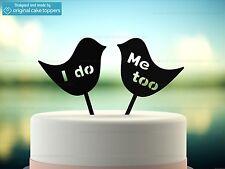"""""""I Do, Me Too"""" - Black - Wedding Cake Topper - Made by OriginalCakeToppers"""