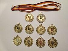 10 Kinder-Medaillen mit Deutschland-Bändern (Party, Geburtstag u.v.m.)