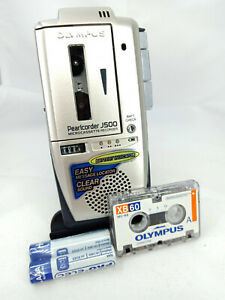 Olympus J500 Pearlcorder MicroCassette Voice Recorder Dictaphone Dictation Micro
