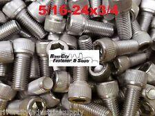 (25) 5/16-24x3/4 Socket Allen Head Cap Screw Stainless Steel Fine Thread