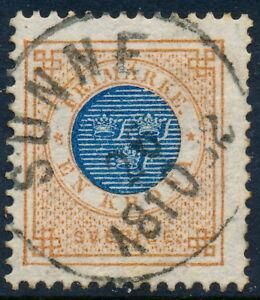 Sweden Scott 38/Facit 38c, 1Kr Ringtyp p.13, F+ Used SUNNE cancel, PR/LYX